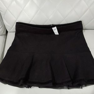 Ann Taylor Black Tweed Ruffle Skirt 18 *NEW*